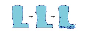 creating the rain boot shape 3