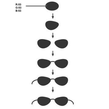 creating the sun glasses