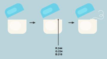 creating the floss of the dental floss box