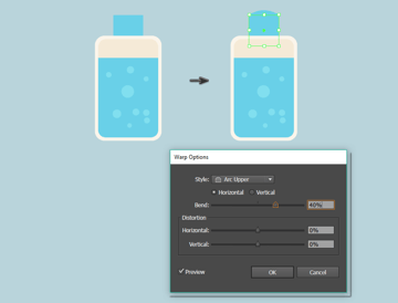 creating the cap of the mouth rinse bottle