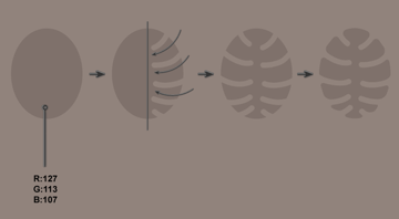 creating the tropical leaf