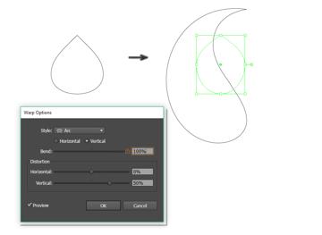 creating the main paisley shape 2