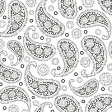 applying the Clipping Mask to the paisley pattern