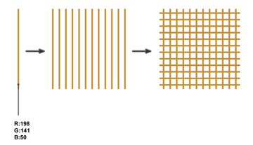 creating the square pattern