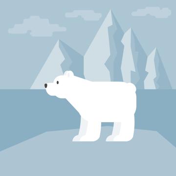 creating other legs of the polar bear