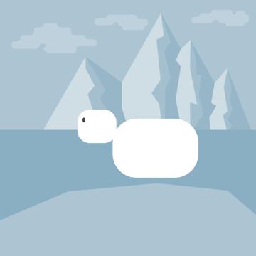 creating the head of the polar bear