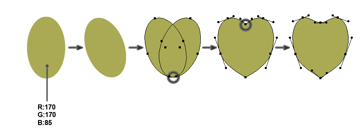 how to create the main shape of the monstera leaf