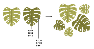 how to create other monstera leaves