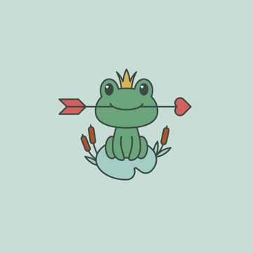placing frog on the background