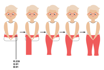 how to create the pants