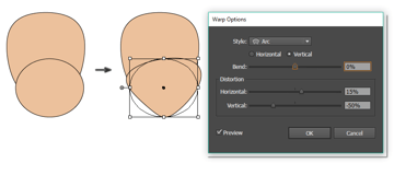 how to create the bottom part of the face