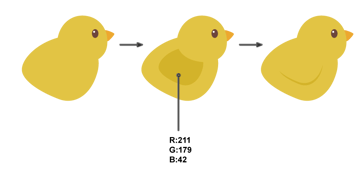 how to create the chicks wing