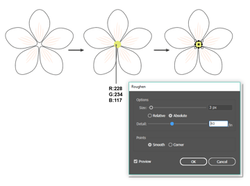 how to create the white flower