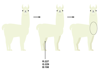 how to create the legs