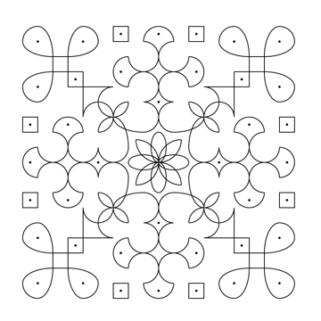 how the completed pattern should look
