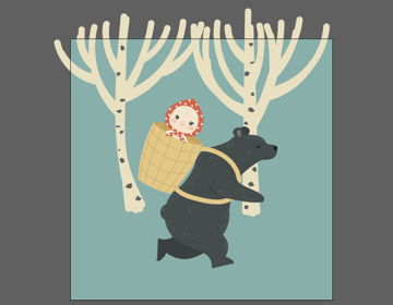 continue drawing the birches