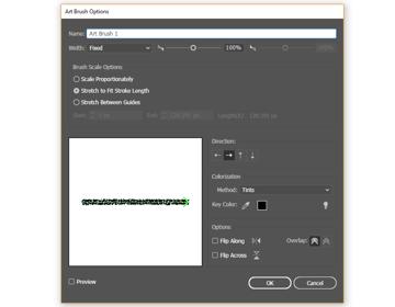 how to make settings for the new illustrator brush