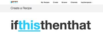 Create new IFTTT recipe