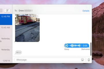 You can listen to your message after you send it too