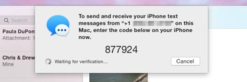 Verify your account with your iPhone
