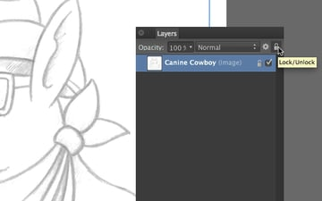 lock the canine cowboy sketch layer