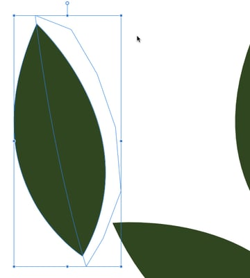 select both the duplicated leaf and the new shape and apply a boolean divide function