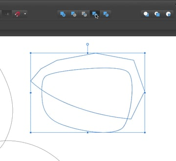 click the divide or second to last icon in the row to chop the two overlapped shapes