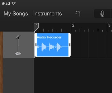 Once pasted you can edit your audio as usual