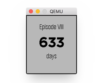Show 633 Days Until Countdown Ends