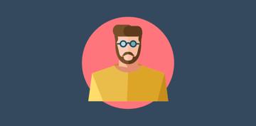 Flat designed developer  hipster