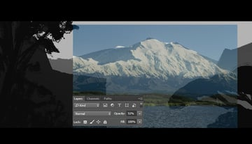 Lowering the opacity of the reference image