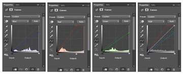 First Curve Adjustment Layer