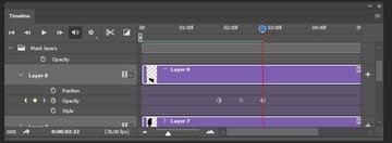 Creating third keyframe for layer 8