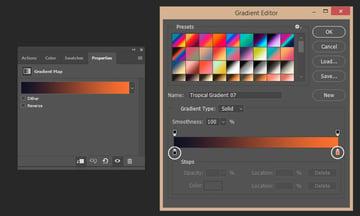 Creating gradient map