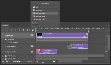 Creating fade in and out effect