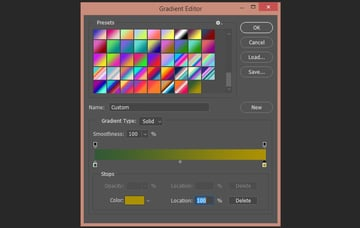 Setting up the colors of the second gradient
