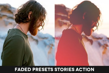 Faded preset stories action promo image
