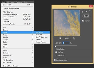 adding a noise effect