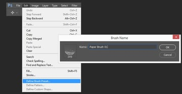 Creating the first brush preset