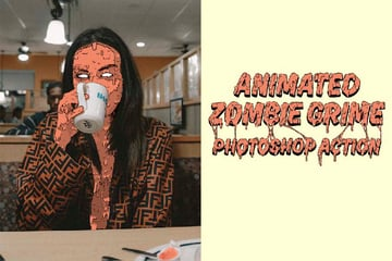 Animated Zombie Grime Art Photoshop Action