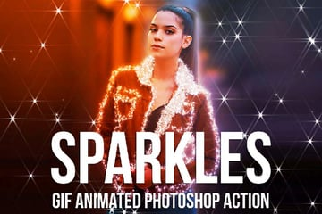 Gif Animated Sparkles Photoshop Action