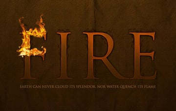 finishing the flame effect of the first letter