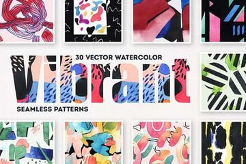 Vibrant Watercolor Patterns