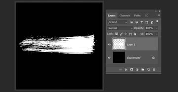 creating a new brush stroke in Photoshop
