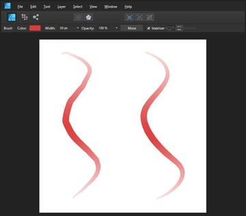 creating a brushstroke with a stamilizer function