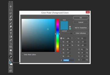 Opening the color libraries