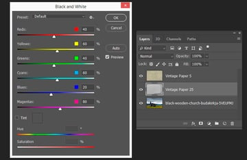 converting the image to black and white