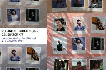 Polaroid Photoshop Moodboard Generator Kit