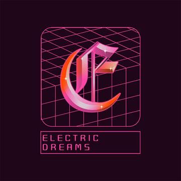 Music Logo Maker featuring Vaporwave Style