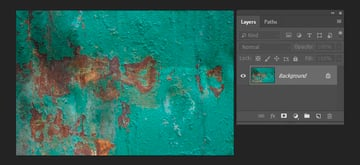 Opening the metal texture in Photoshop